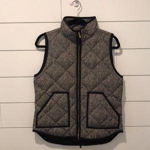 J Crew EUC Houndstooth Puffer Vest